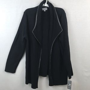 Jm Collection wing-collar faux cardigan